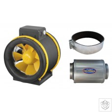 Max-Fan PS 200 with 200mm Silencer and Fast Clamps CAN (Ruck)