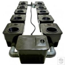 10 Pot UnderFlow DWC System