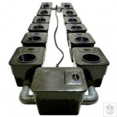 12 Pot UnderFlow DWC System