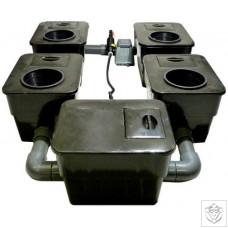 4 Pot UnderFlow DWC System
