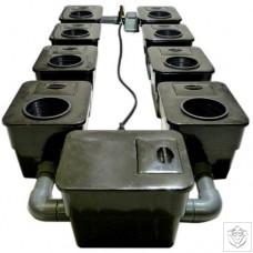 8 Pot UnderFlow DWC System