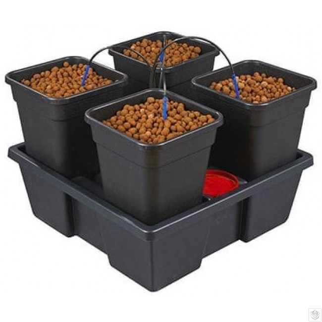 New Wilma Small Square 4 Complete 6 Litre Pots Nutriculture