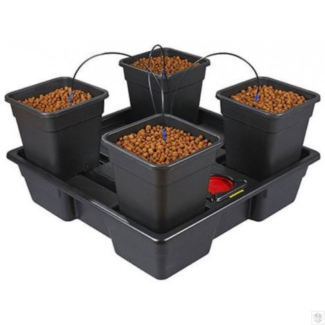 New Wilma Large Square 4 Complete 18 Litre Pots Nutriculture