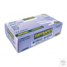 Tuffsafe Blue Nitrile Gloves - Box of 100