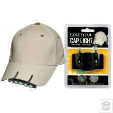 Green LED Cap Light Green Eye