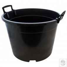 Round Black 35 Litre Pot N/A