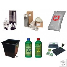 Quality 4 Plant 400W HPS Indoor Soil Grow Kit